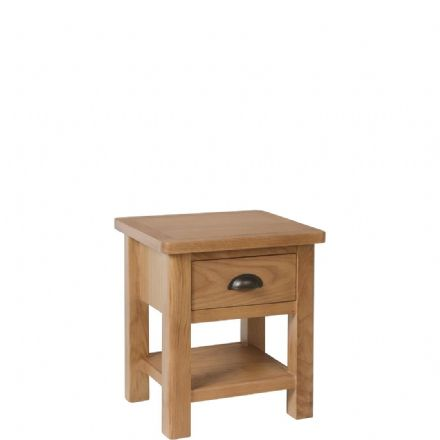 Richmond Oak 1 Drawer Lamp Table